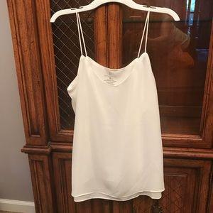 White Woman's Sleeveless Dress Top